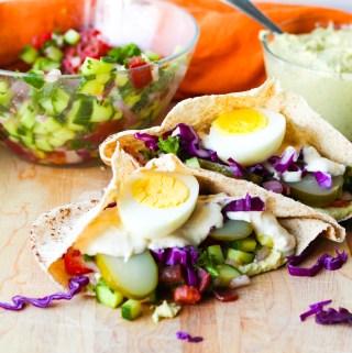 Vegetarian Sabich Sandwich Recipe