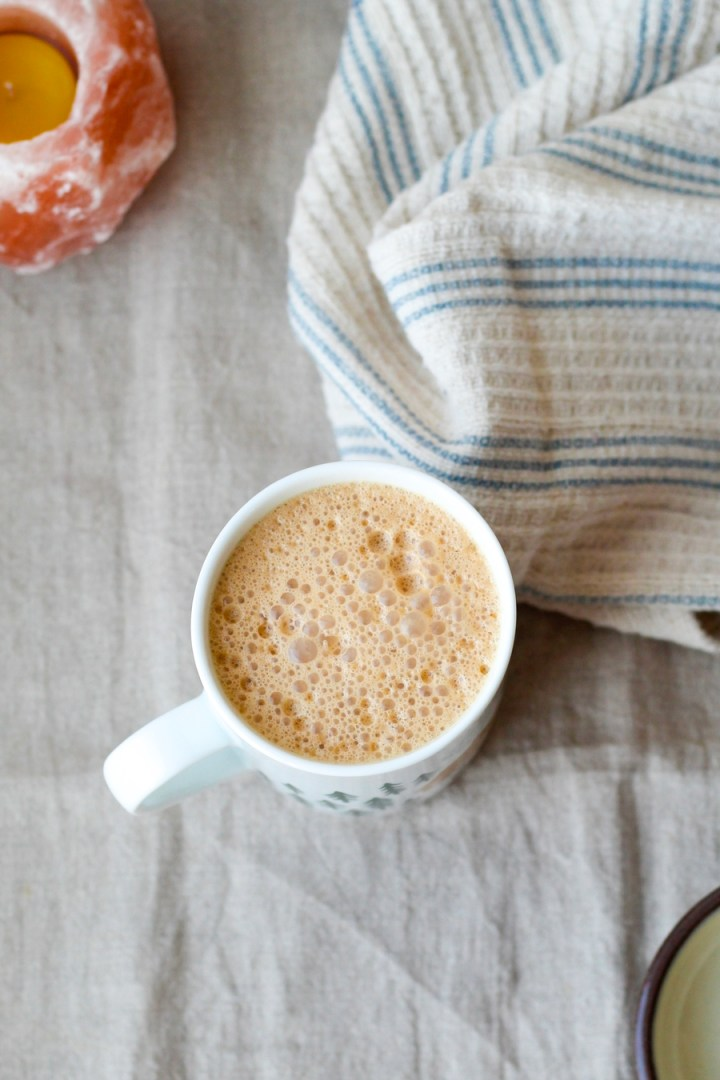 Vegan Dirty Chai Latte