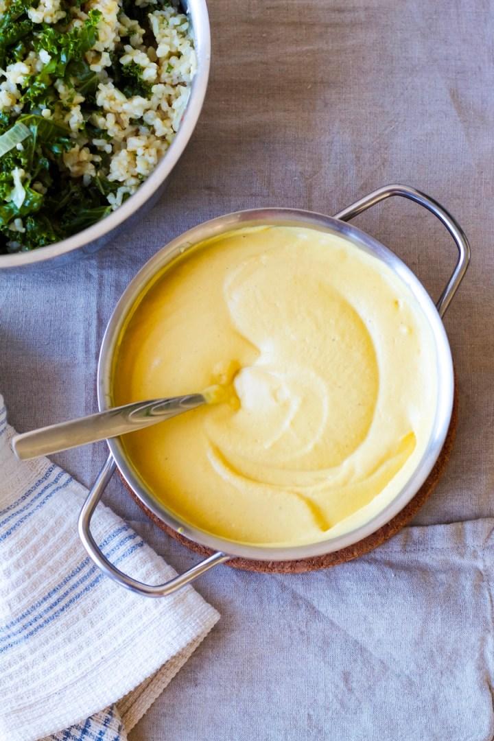 Vegan Pumpkin Alfredo Rice w/ Kale