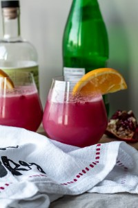 Pomegranate Orange Gin and Tonic Recipe (Tonic Water-Free)