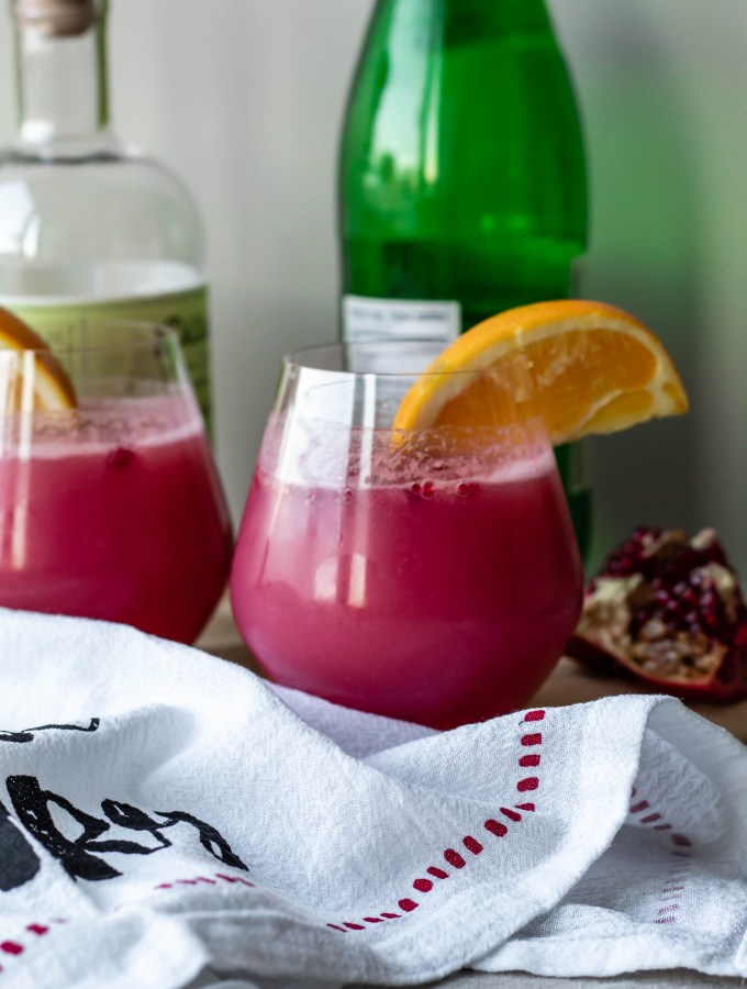 Pomegranate Orange Gin and Tonic Recipe (Tonic Water-Free)