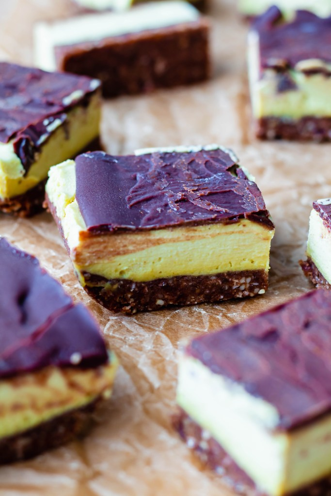 Almost Raw Vegan Nanaimo Bar Recipe