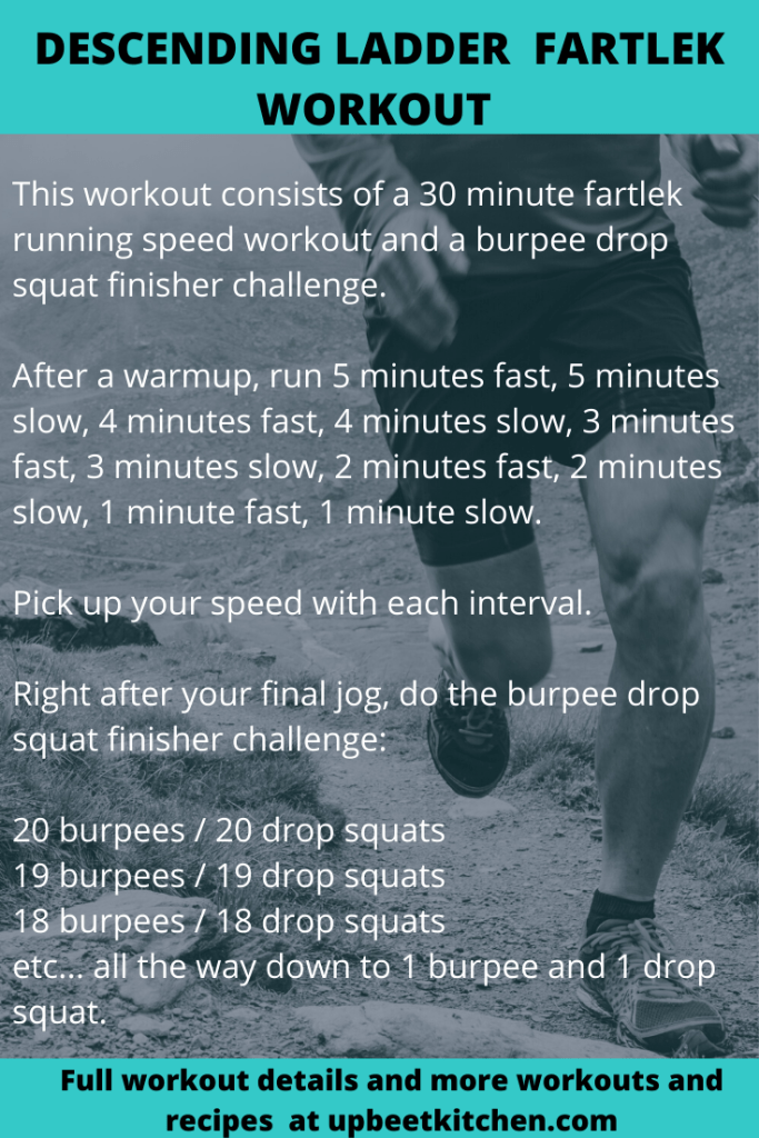 pinterest graphic with the exact workout outline