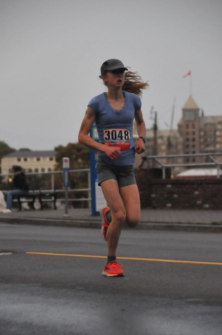 Allison running a half marathon in 2014