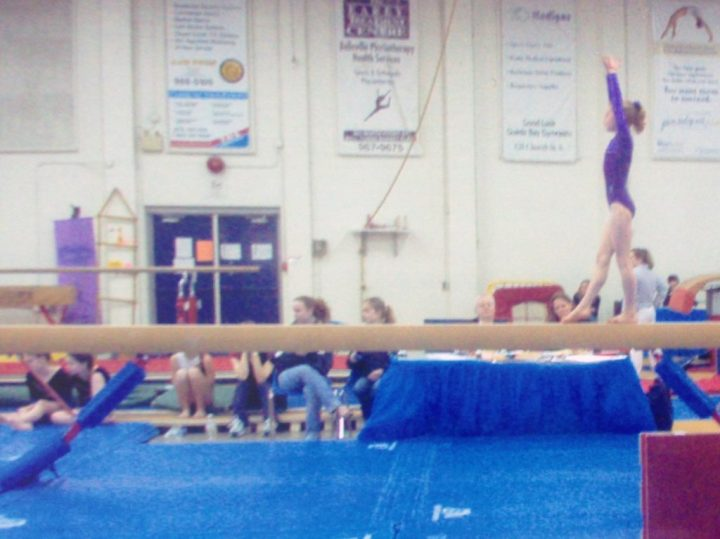 image of Allison in a gymnastics competition