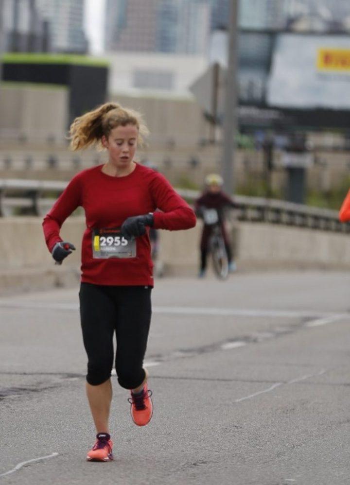 the author running a marathon