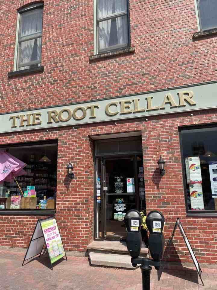 the Root Cellar health food store exterior in Charlottetown