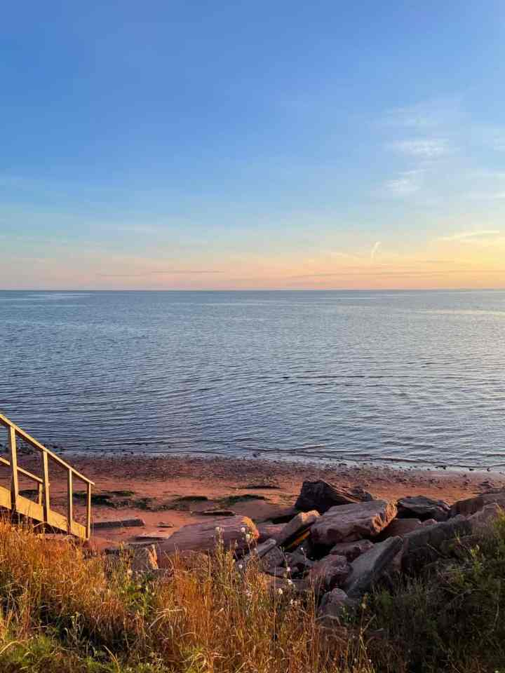 a sunset over Victoria by the Sea, PEI