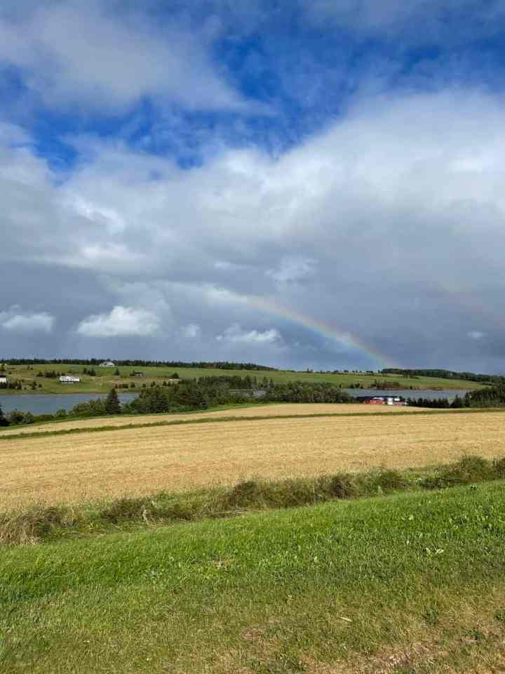 rainbow over French River, Prince Edward Island