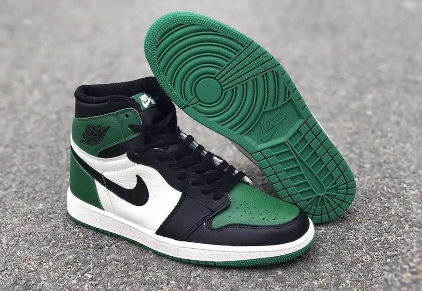Air Jordan 1 Pine Green with different color scheme
