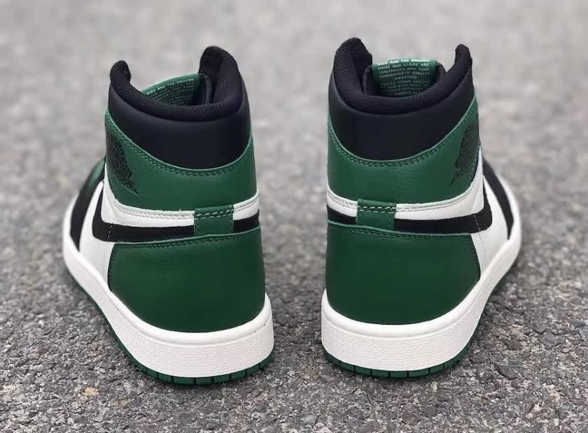 Air Jordan 1 Pine Green with the signature green hue