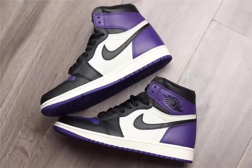 Air Jordan 1 Retro High OG Purple with toe box and rubber outsole