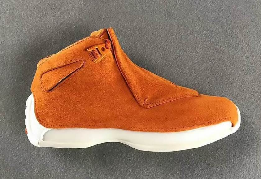 Air Jordan 18 Orange Suede with a sporty combination