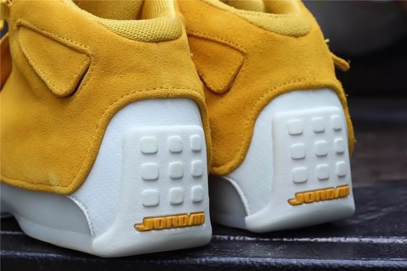 Air Jordan 18 Yellow Suede with its seamless one piece upper