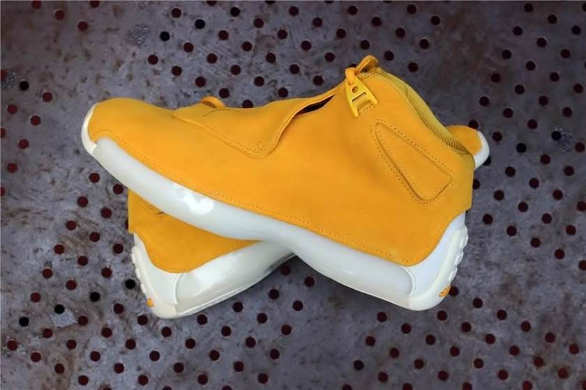 Air Jordan 18 Yellow Suede with reasonable Price