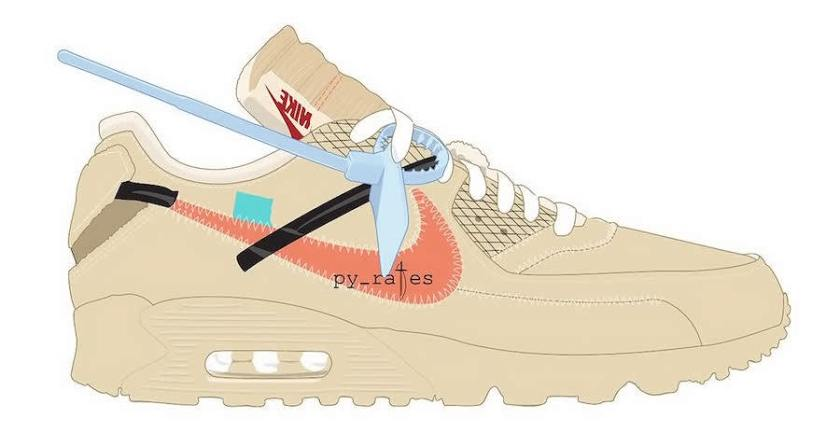 Off-White x Nike Air Max 90 with Exclusive design