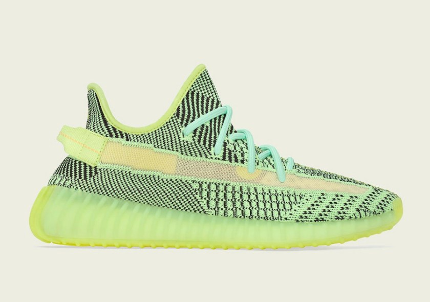 Adidas Yeezy 350 Boost with neon green colors