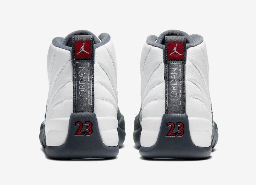 Air Jordan 12 White Grey with Red color Air Jordan logo