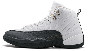 Air Jordan 12 White Grey