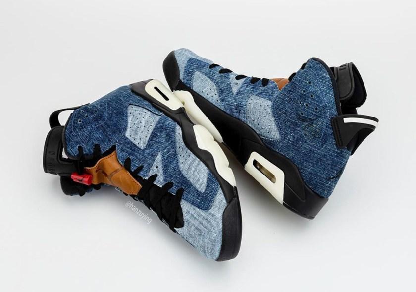 Air Jordan 6 Washed Denim with Black color mixture