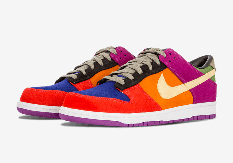 Nike Dunk Low with variety of colors