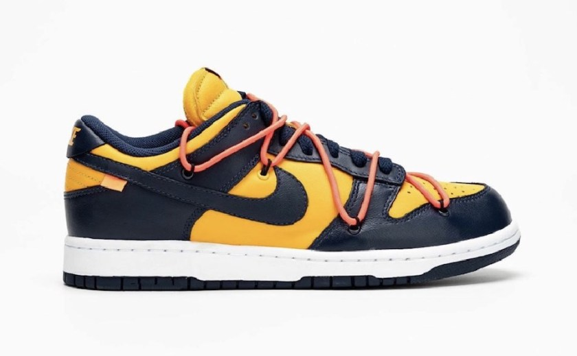 Nike Dunk Low with traditional flat one