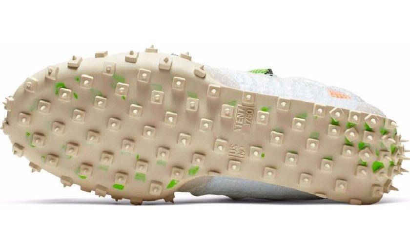 Nike WMNS Waffle Racer White with cream-like dirty white color