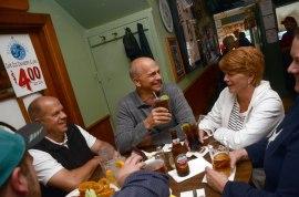 Conversation flows at Kevin's. Photo: Caroline Bonniver Snyder