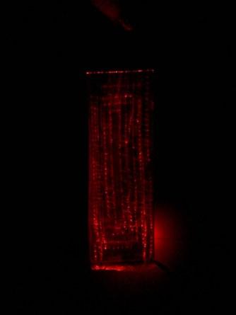 Red Safety Bracelet Lit