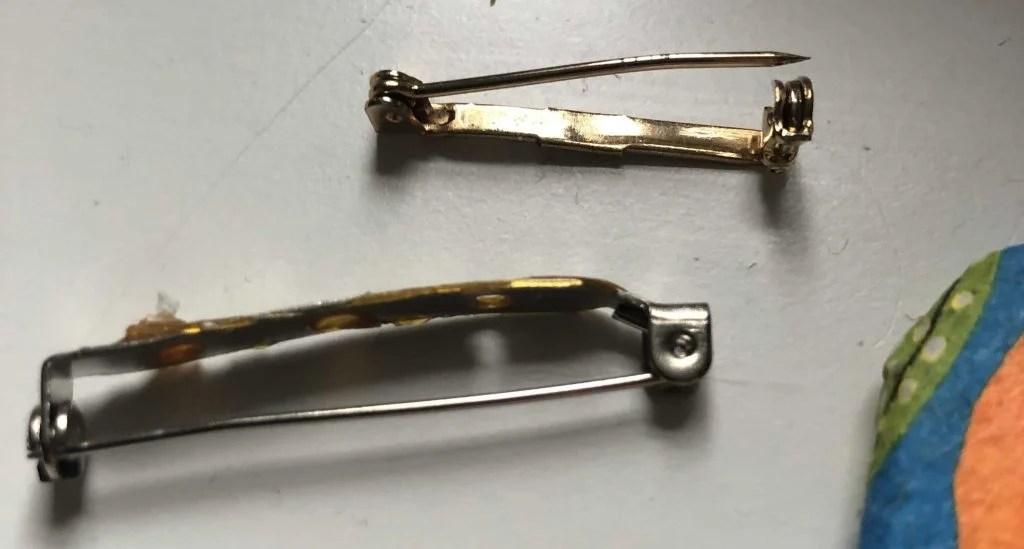 reused brooch clasps
