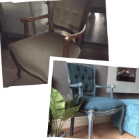How to Upcycle a Velour Armchair - Using Paint