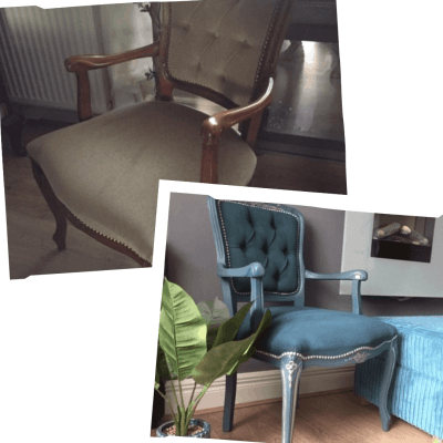 How to Upcycle a Velour Armchair – Using Paint