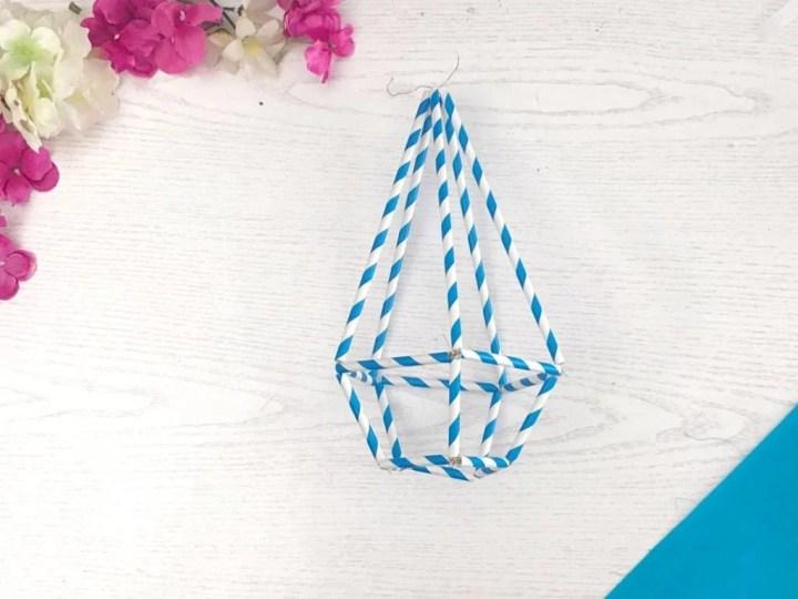 geometric plant hanger DIY