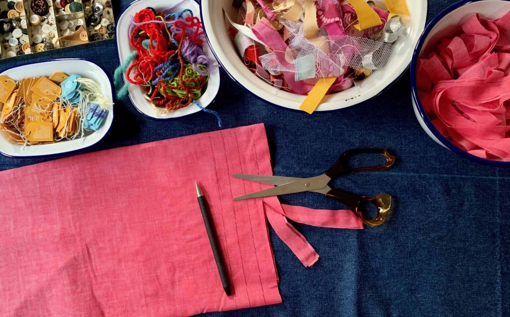 scrap fabric Upcycle