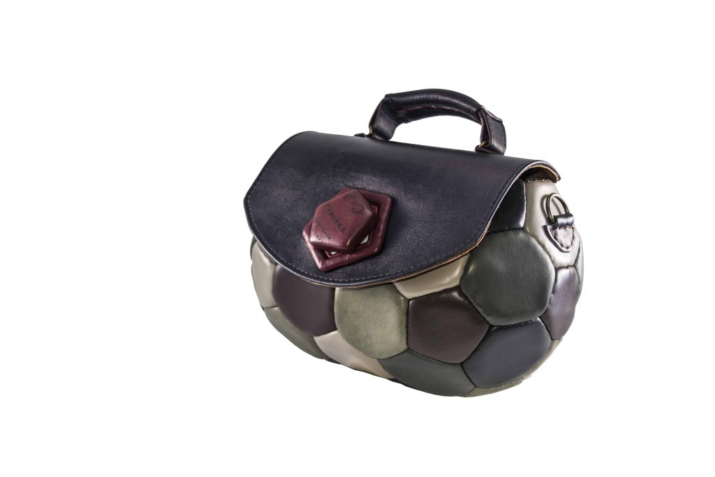 bag made from a soccer ball