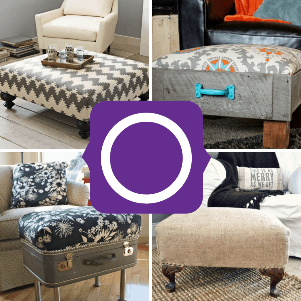 upcycled ottomans