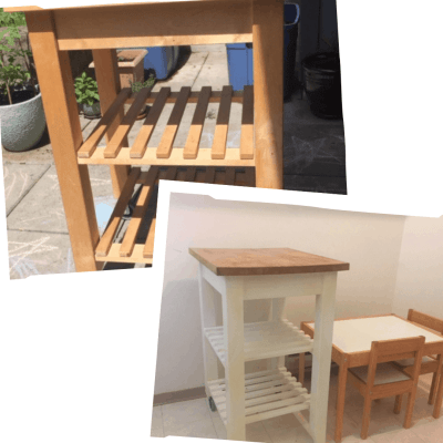 How to Upcycle an Ikea Bekvam Kitchen Trolley