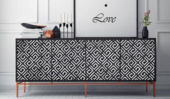 sideboard stencil Upcycle Ideas