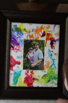 upcycled photo mount Father's Day