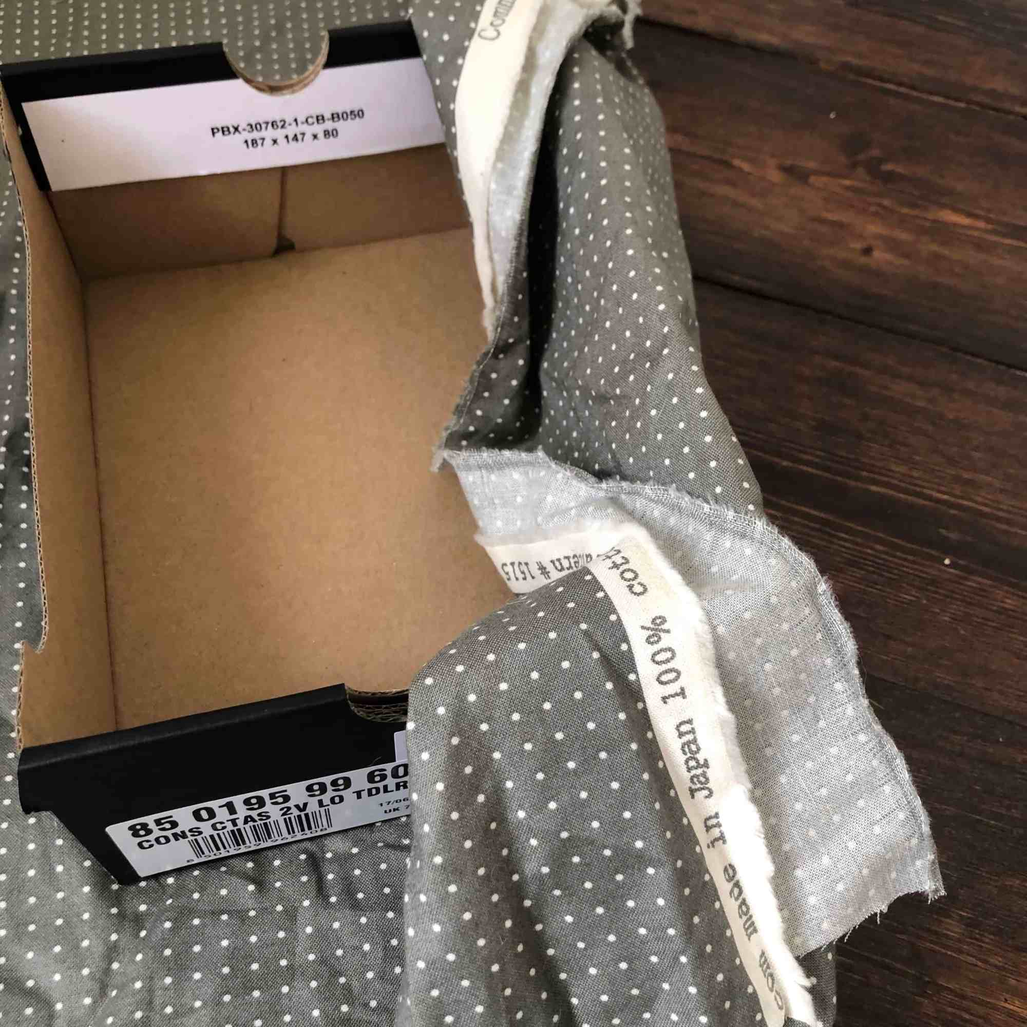 cardboard box to fabric covered storage box