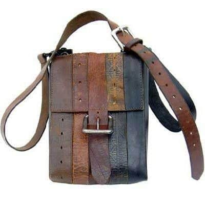 leather belt messenger bag