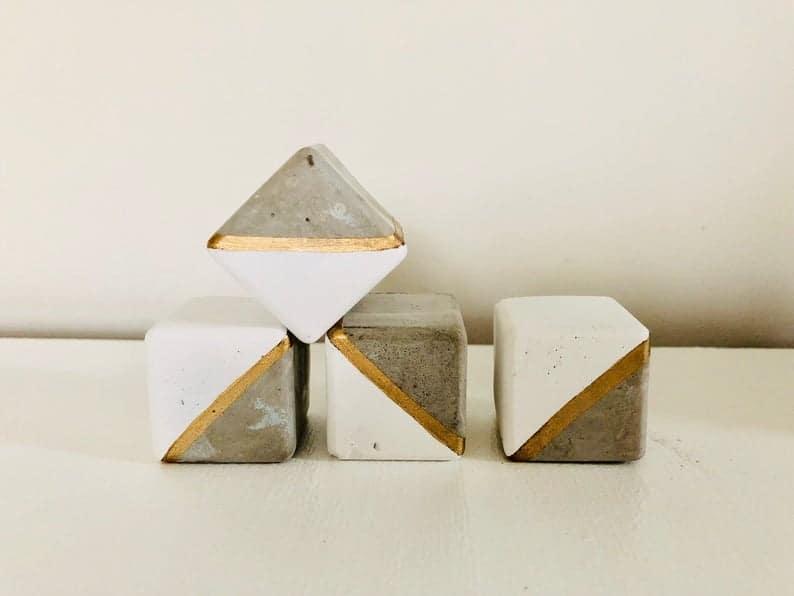 concrete cube drawer pulls