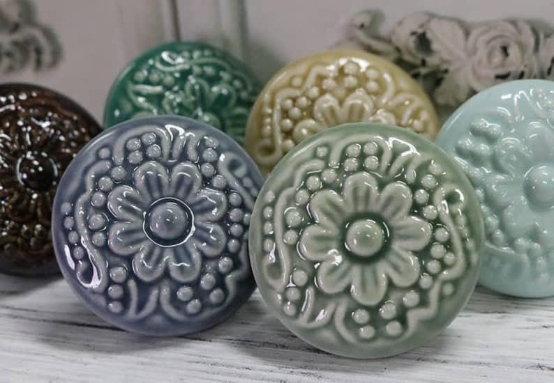glossy ceramic drawer knobs