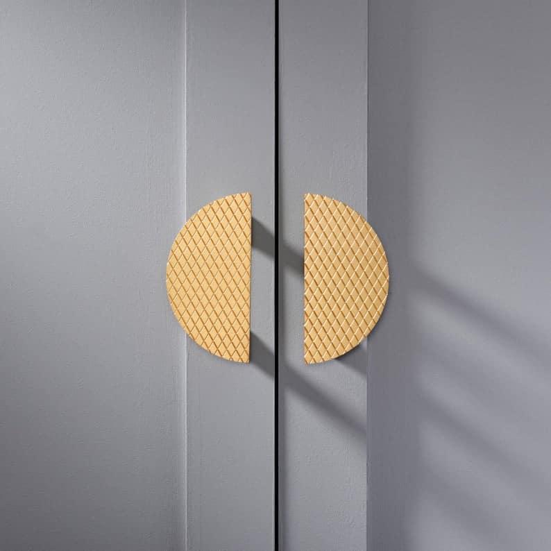 gold half moon cabinet handles