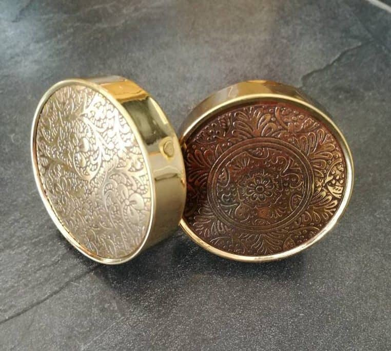 gold embossed drawer knobs