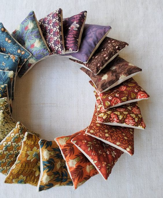 scrap fabric project lavender sachets