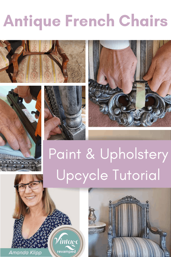 how to upcycle antique French chairs