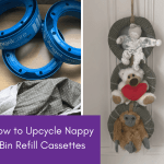 how to upcycle nappy bin refill cassettes