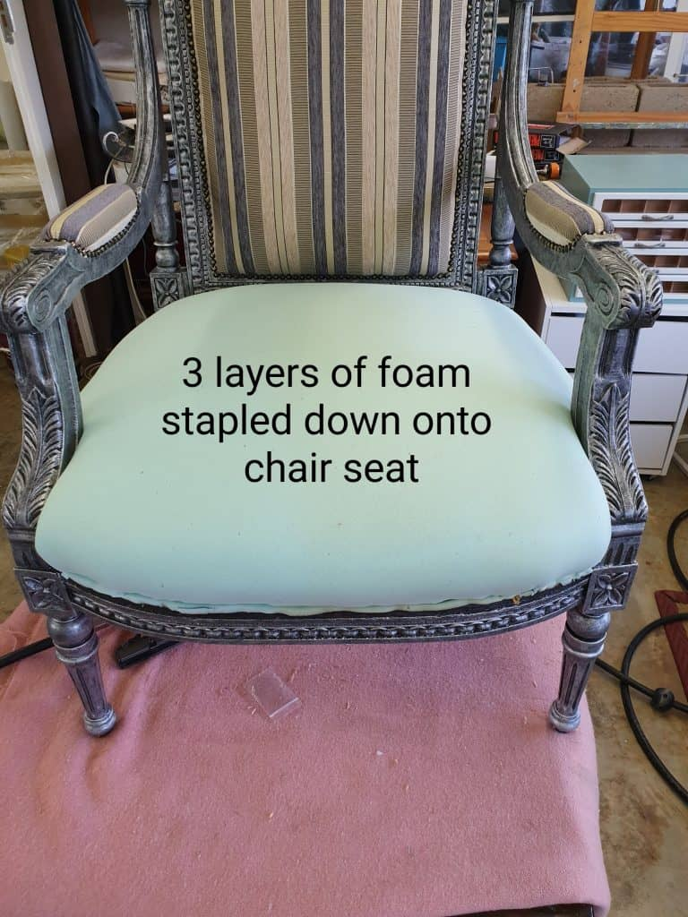 how to upholster adding new foam