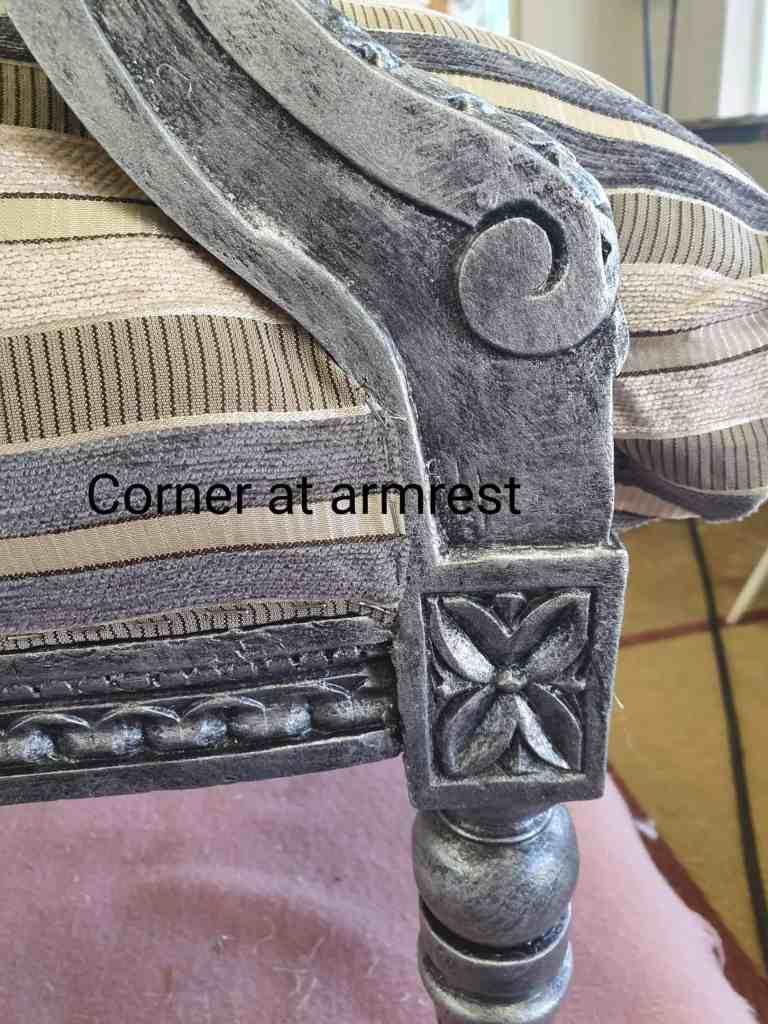 upholstery corner of armrest